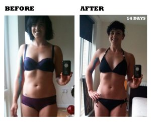 Corset Training Results - Before and After